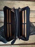 zwarte clutch - clutch met telefoonvak - Rezo design