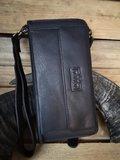 clutch met telefoonvak - Rfid clutch - zwarte clutch - antiskim clutch - portemonnee met telefoon