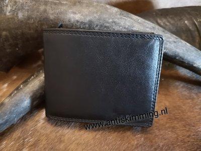 anti skim portemonnee zwart